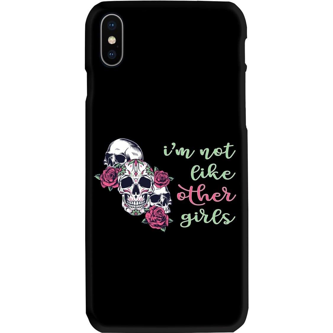 All Nerds Here I'm Not Like Other Girls Phone Case - Snap * iPhone * Samsung * - iPhone X Case / Gloss / Apparel