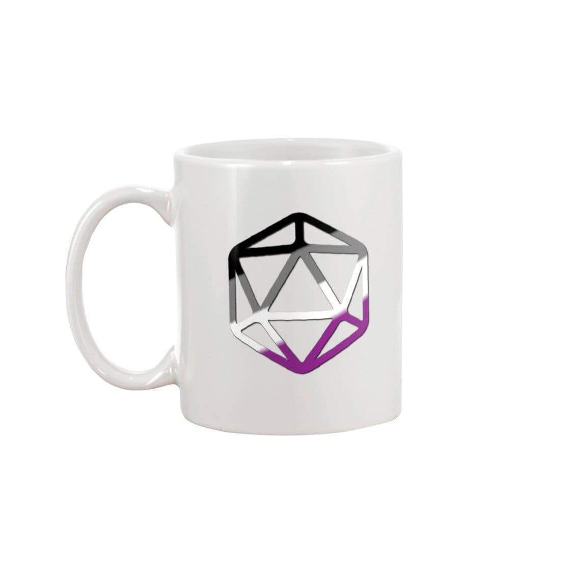 D20 Critical Pride Ace Pride 11oz Coffee Mug - Mugs