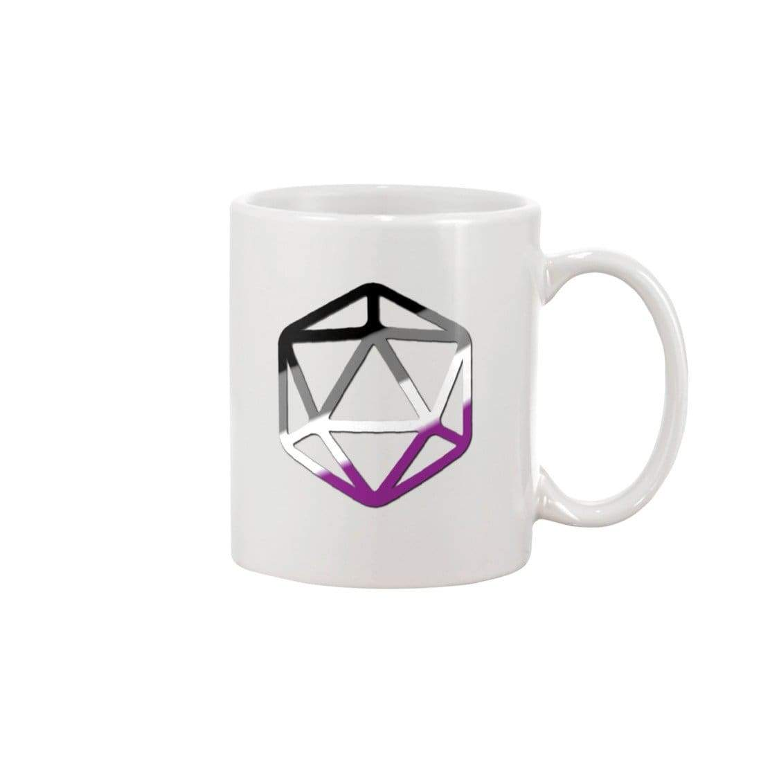D20 Critical Pride Ace Pride 11oz Coffee Mug - White / 11OZ - Mugs
