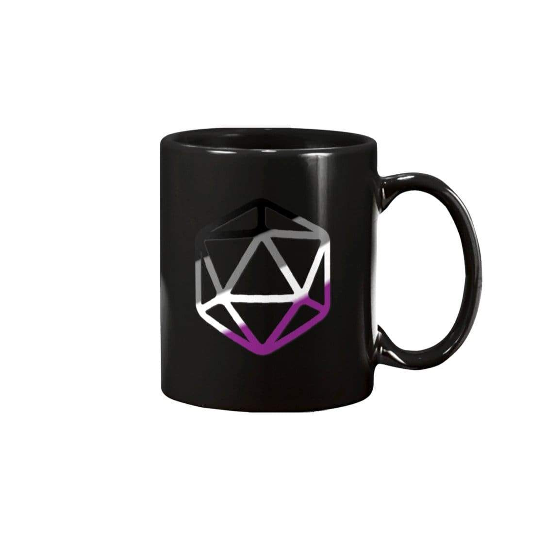 D20 Critical Pride Ace Pride 11oz Coffee Mug - Black / 11OZ - Mugs