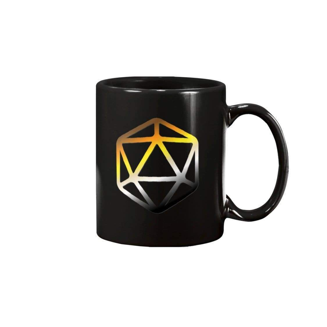 D20 Critical Pride Bear Pride 11oz Coffee Mug - Black / 11OZ - Mugs