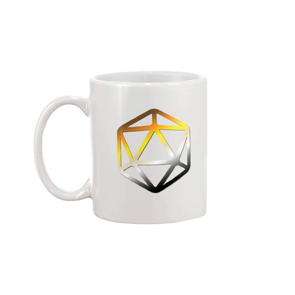 D20 Critical Pride Bear Pride 11oz Coffee Mug - White / 11OZ - Mugs