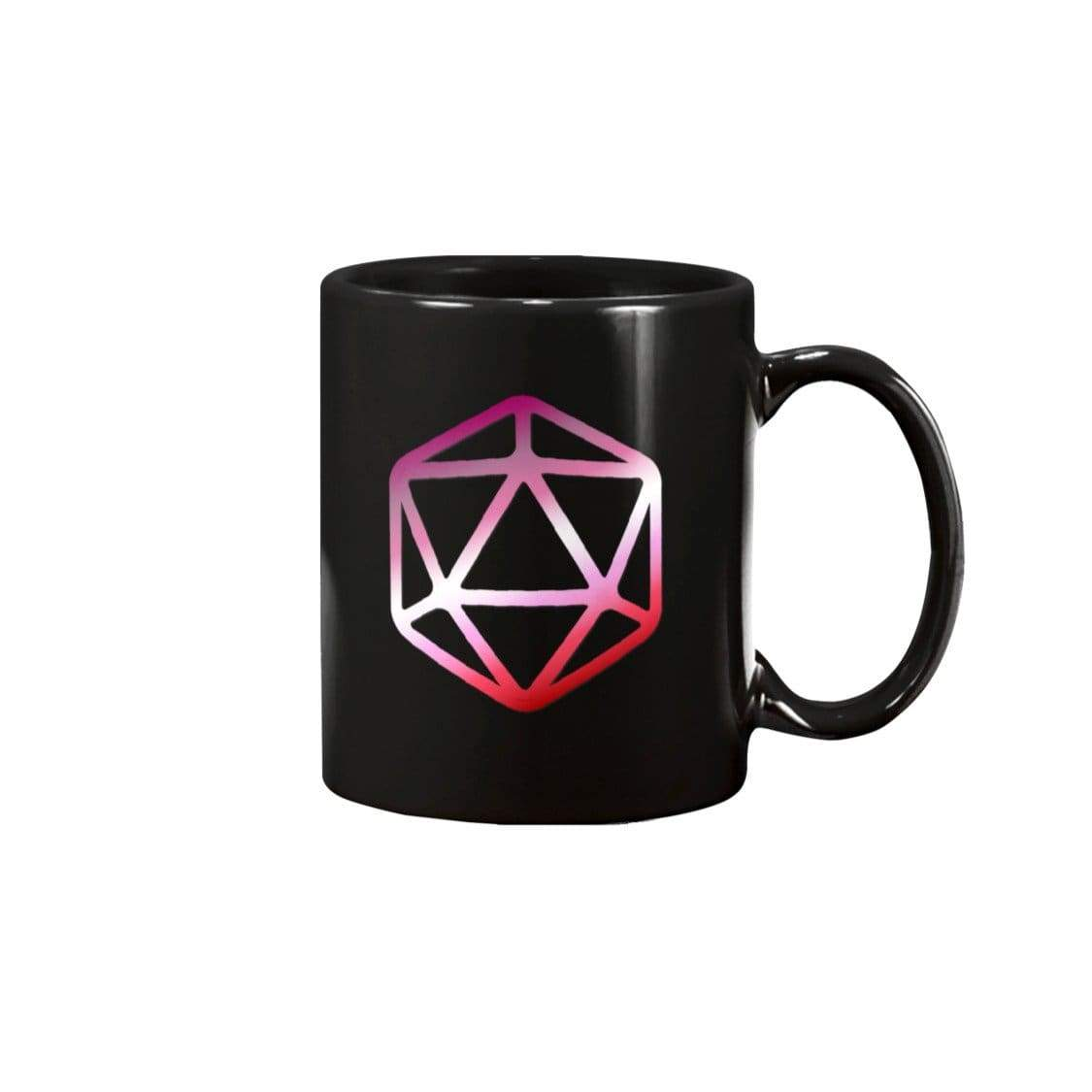 D20 Critical Pride Lesbian Pride 15oz Coffee Mug - Black / 15OZ - Mugs