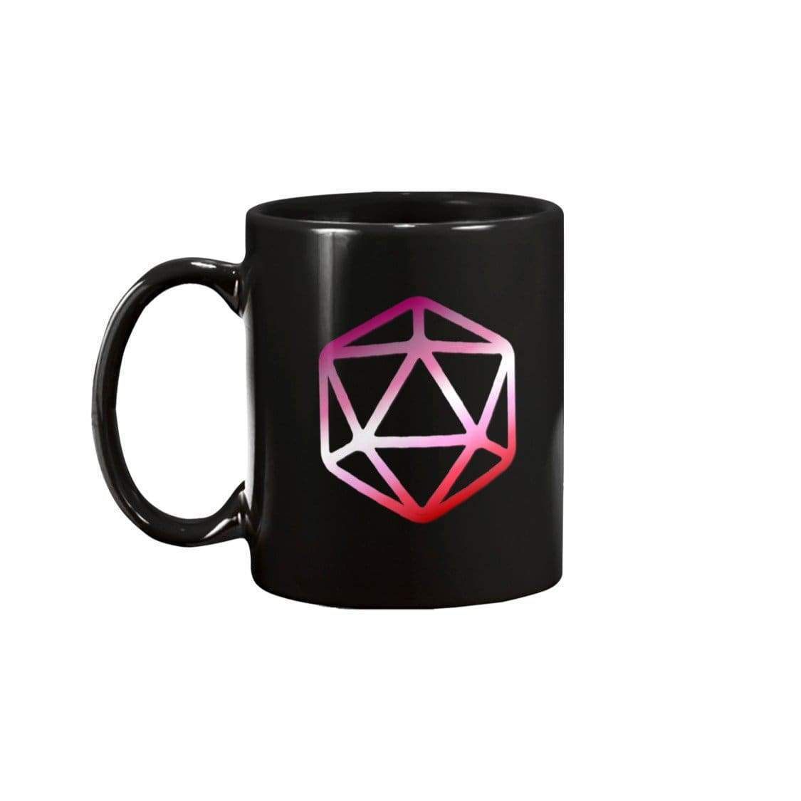 D20 Critical Pride Lesbian Pride 15oz Coffee Mug - Mugs
