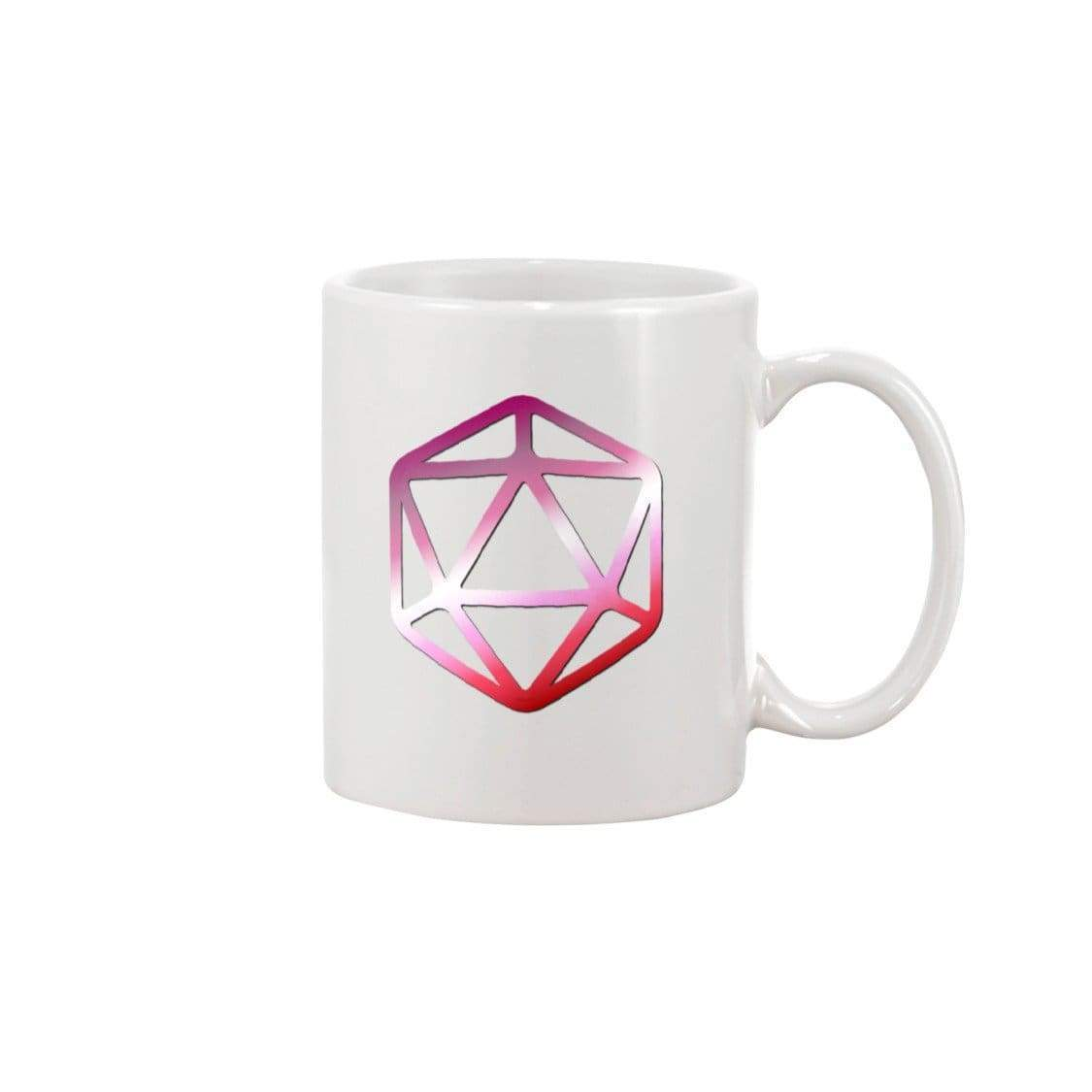 D20 Critical Pride Lesbian Pride 15oz Coffee Mug - White / 15OZ - Mugs