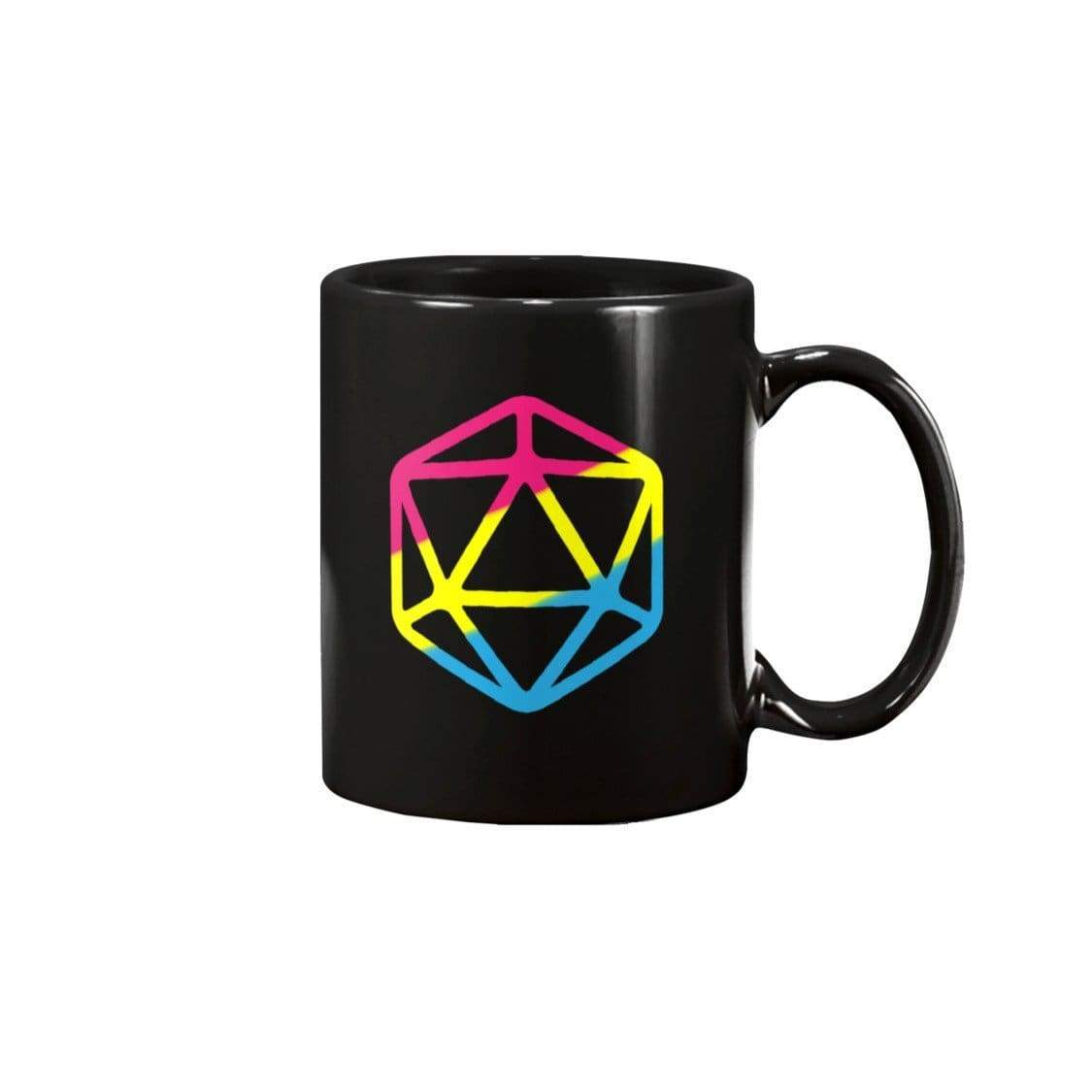 D20 Critical Pride Pan Pride 11oz Coffee Mug - Black / 11OZ - Mugs