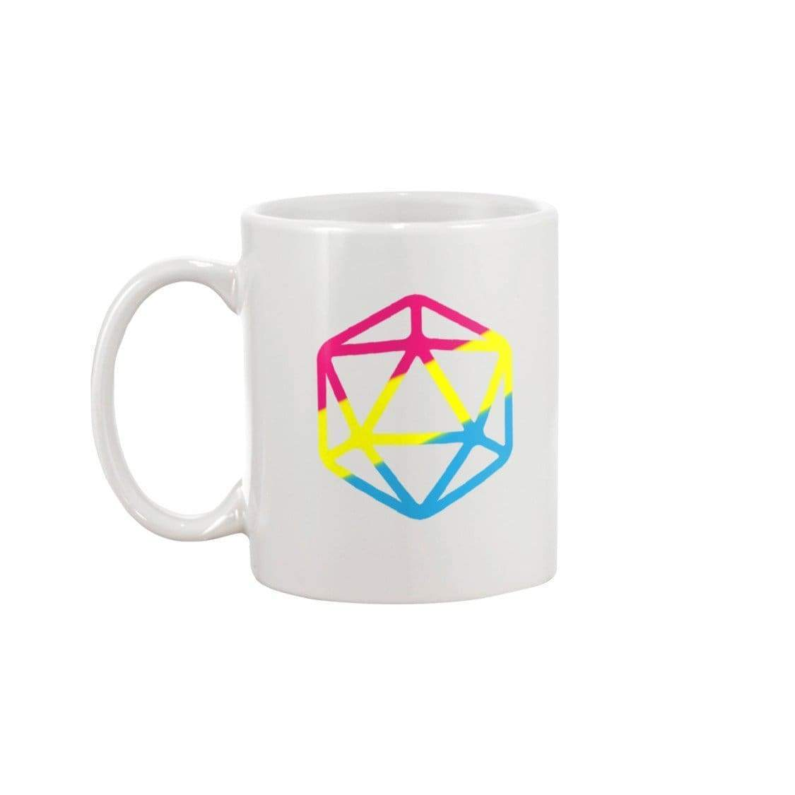D20 Critical Pride Pan Pride 11oz Coffee Mug - White / 11OZ - Mugs