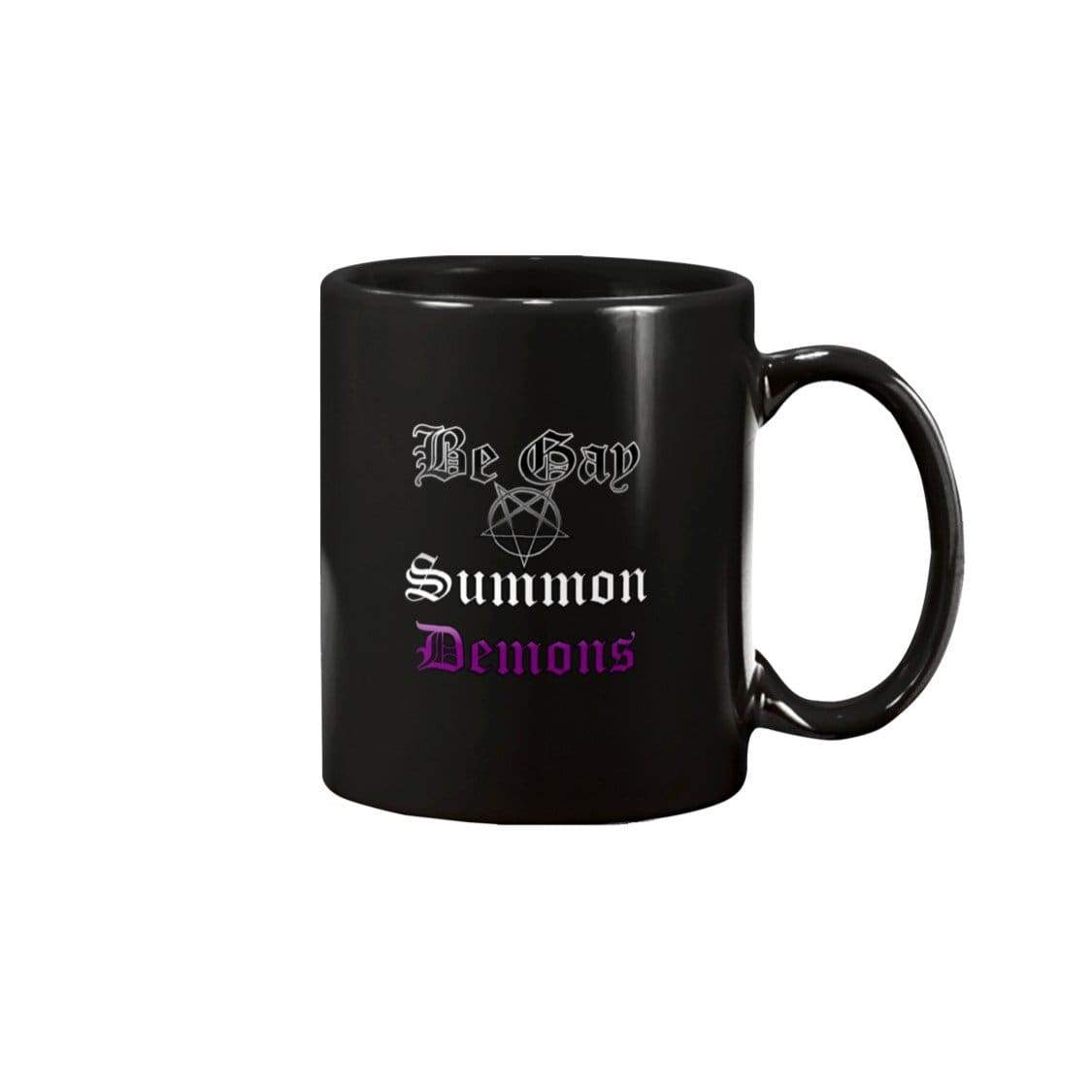 Dice Priori Be Gay Summon Demons Ace 15oz Coffee Mug - Black / 15OZ - Mugs