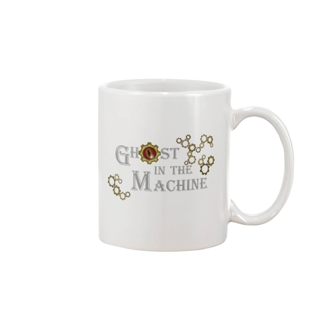 Dice Priori Ghost in the Machine Gears 15oz Coffee Mug - Dice Priori