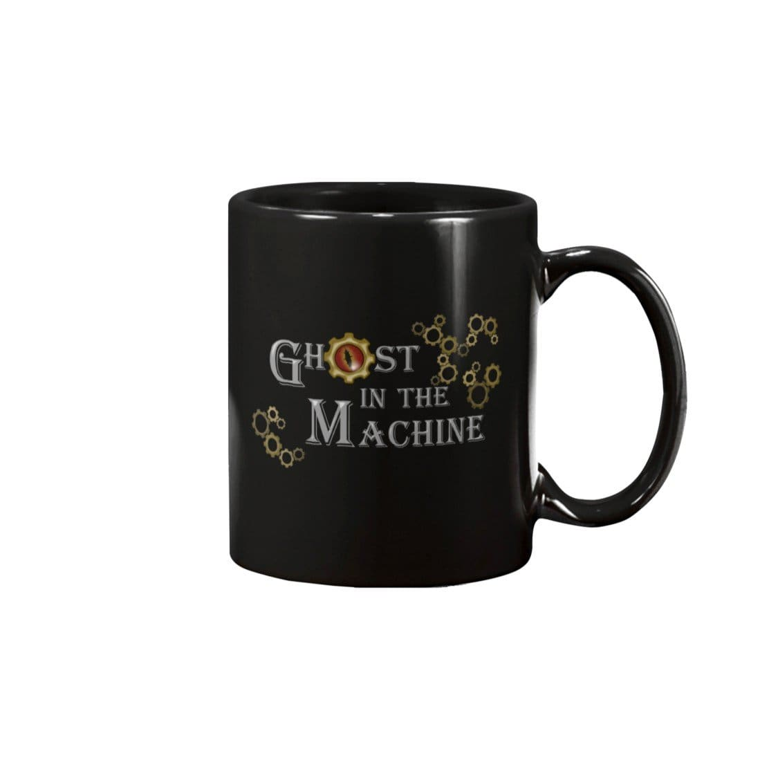 Dice Priori Ghost in the Machine Gears 15oz Coffee Mug - Black / 15OZ - Dice Priori