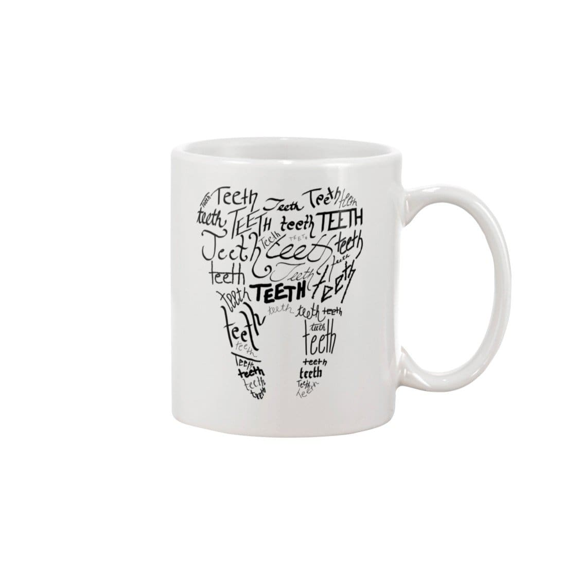 Dice Priori Teeth Tooth 15oz Coffee Mug - White / 15OZ - Dice Priori