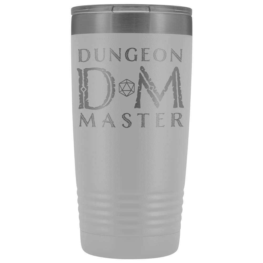 Dungeon Master DM Ancient 20oz Vacuum Tumbler - White - Tumblers