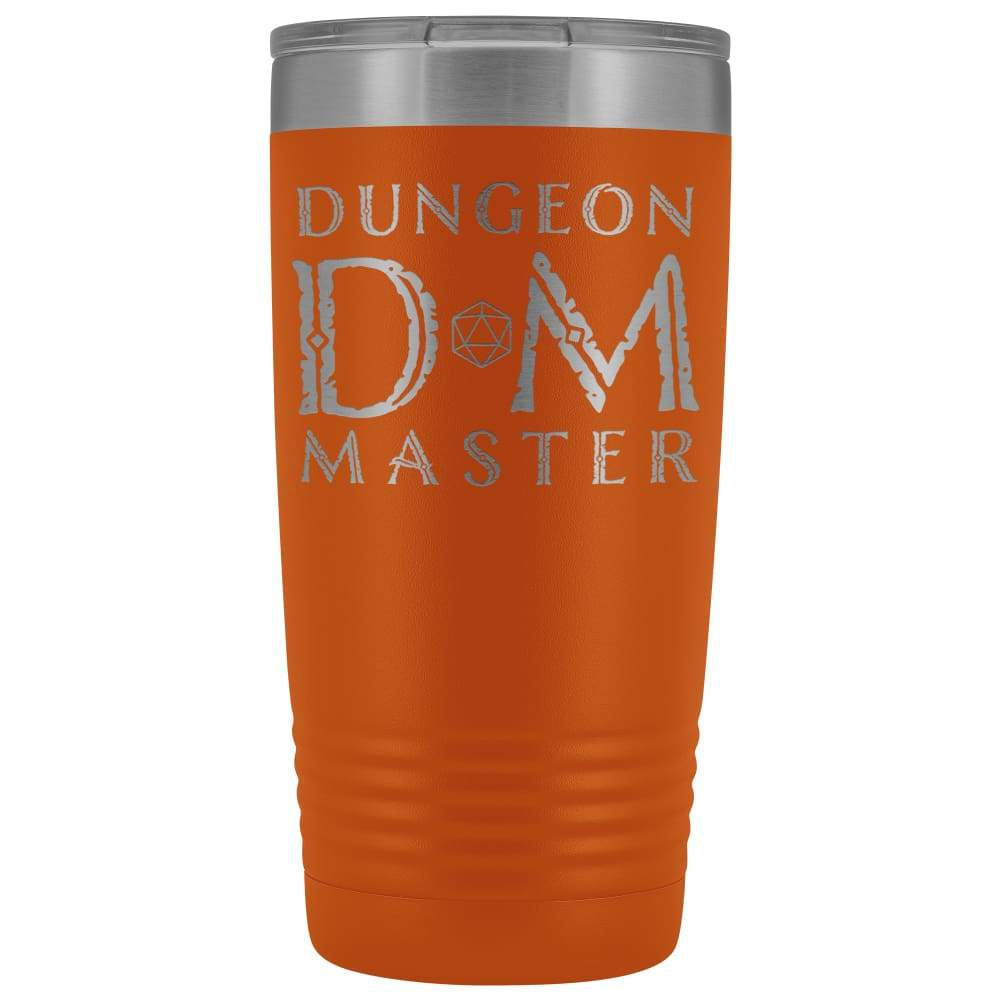 Dungeon Master DM Ancient 20oz Vacuum Tumbler - Orange - Tumblers
