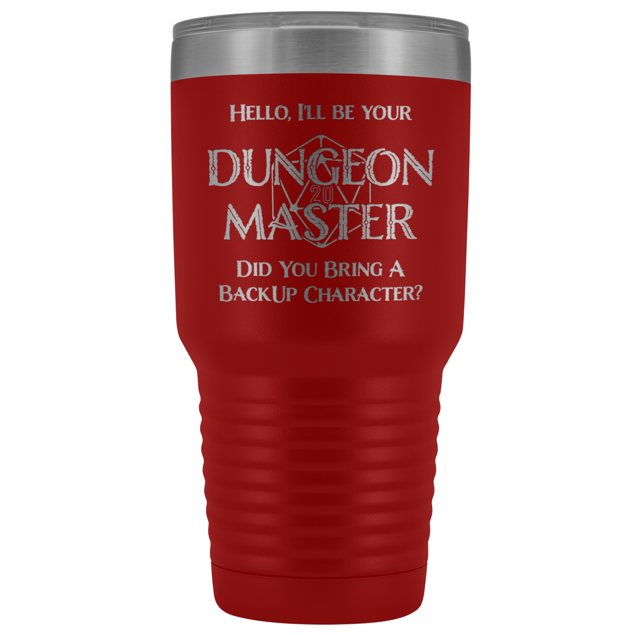 Dungeon Master DM Backup 30oz Vacuum Tumbler - Red - Tumblers
