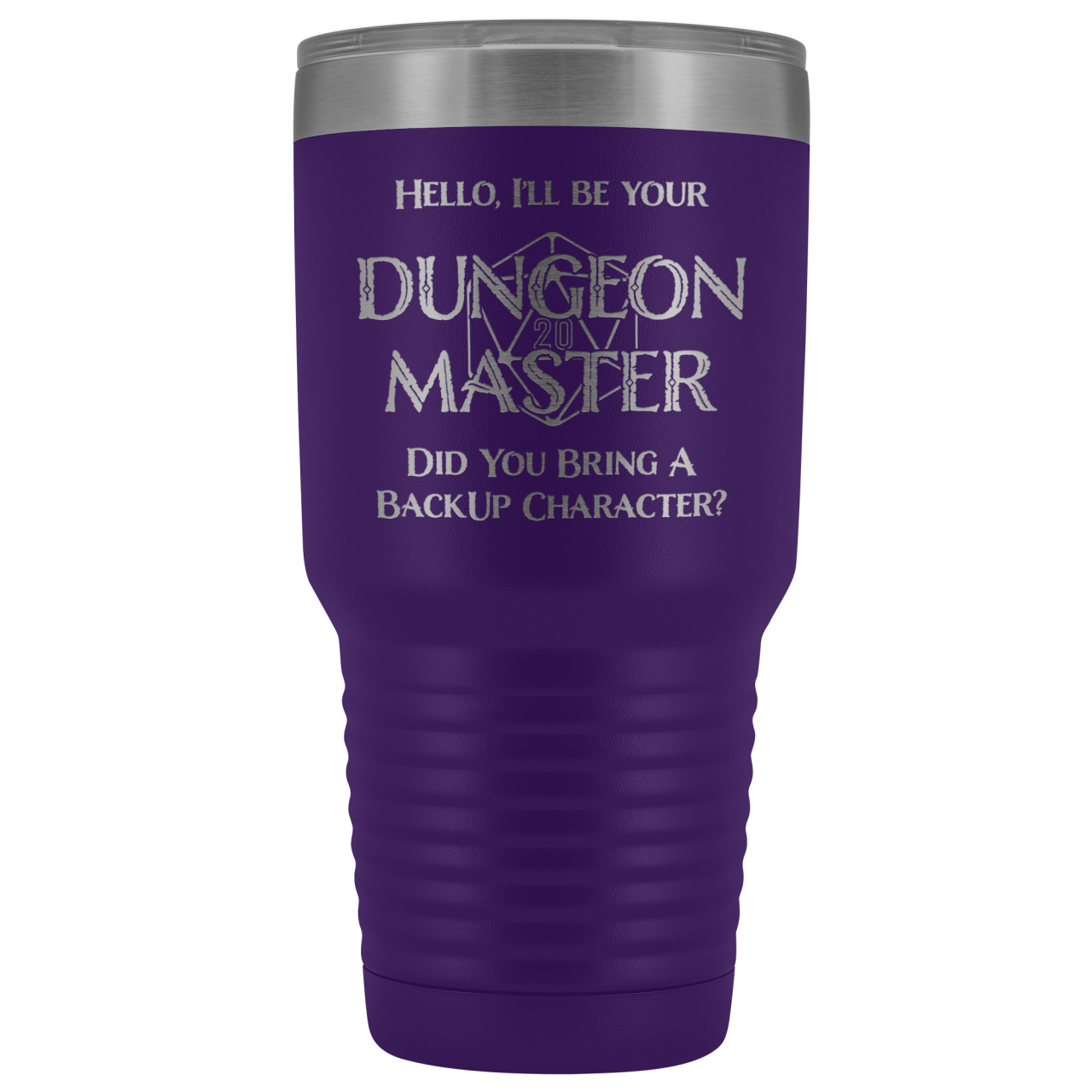 Dungeon Master DM Backup 30oz Vacuum Tumbler - Purple - Tumblers