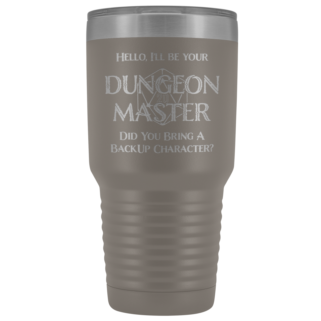 Dungeon Master DM Backup 30oz Vacuum Tumbler - Pewter - Tumblers