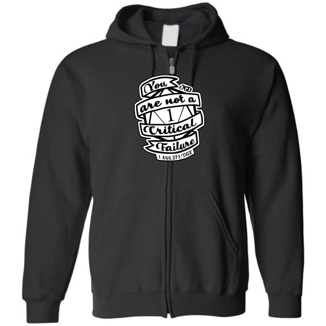 Jasper's Game Day - You Are Not A Critical Failure - Team Jasper Unisex Zip Hoodie - Black / S