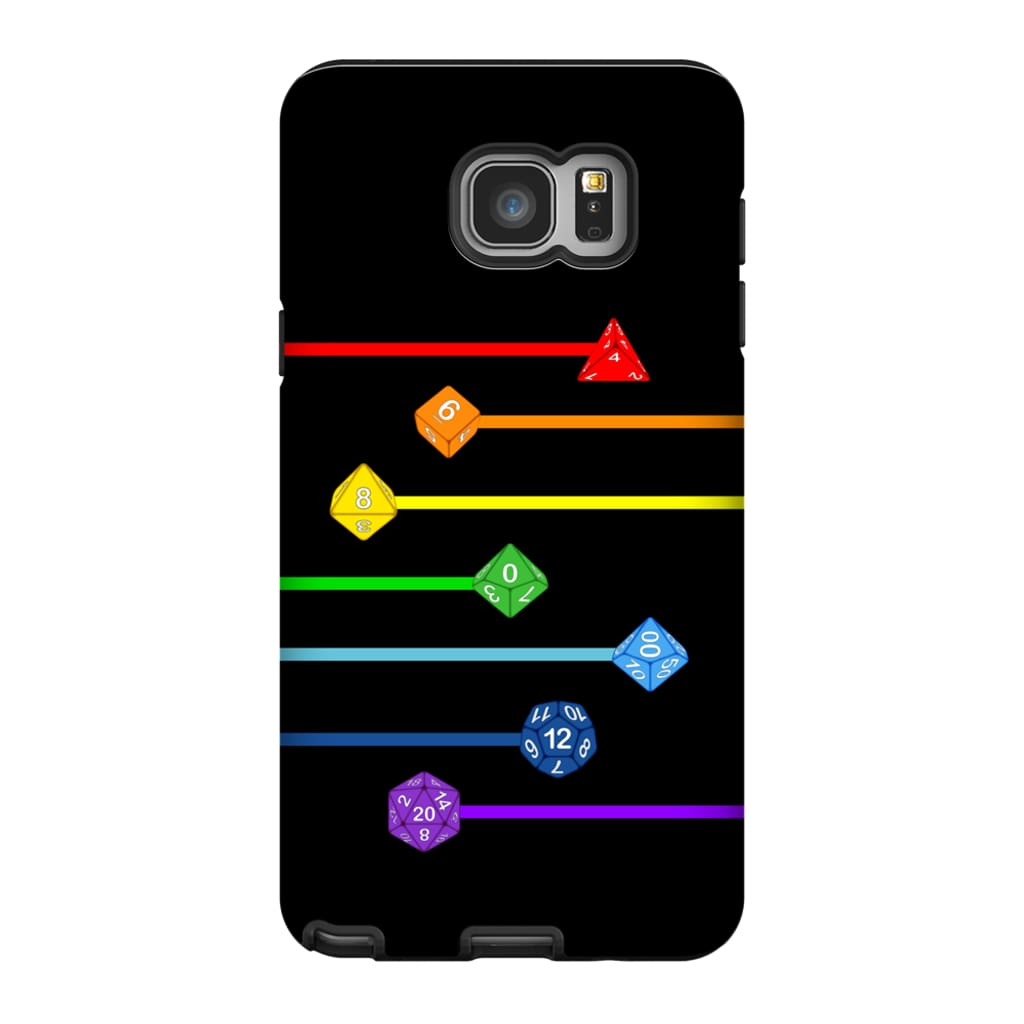 Polyhedral Pride - Rainbow Dice Phone Case : Tough - Samsung Galaxy Note 5