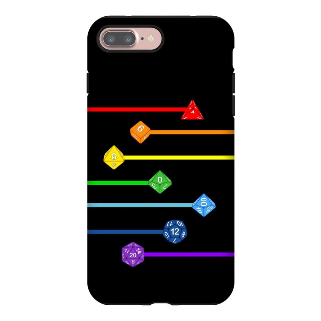 Polyhedral Pride - Rainbow Dice Phone Case : Tough - iPhone 7 Plus