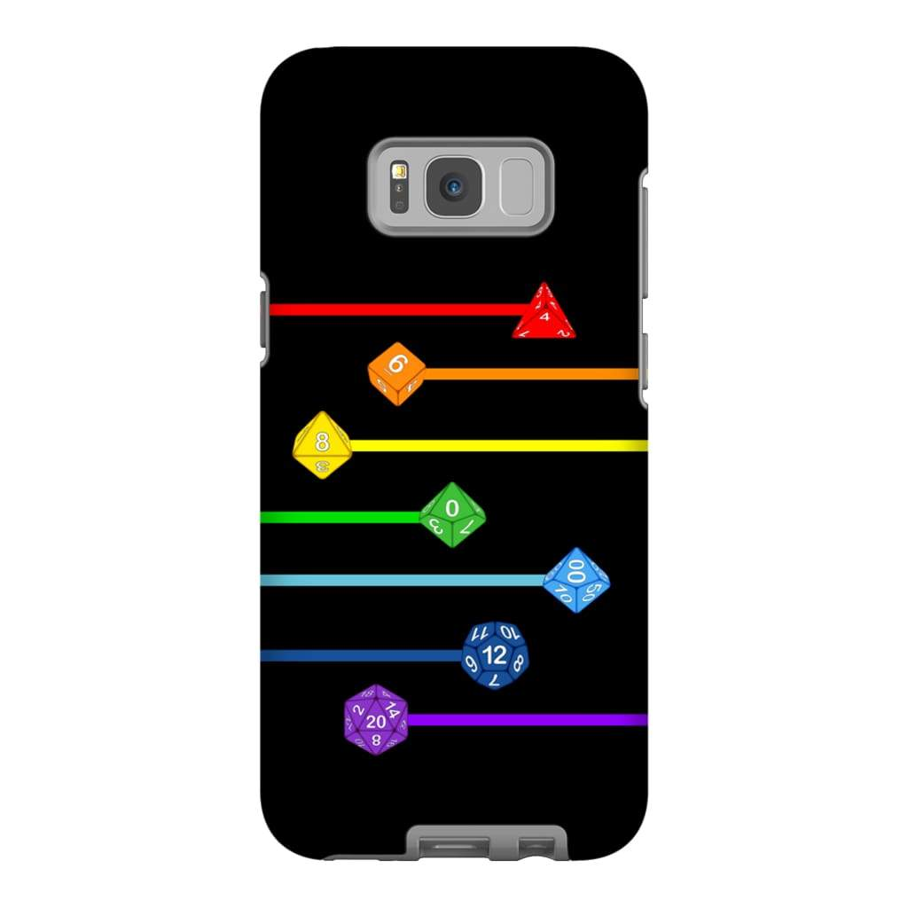 Polyhedral Pride - Rainbow Dice Phone Case : Tough - Samsung Galaxy S8 Plus