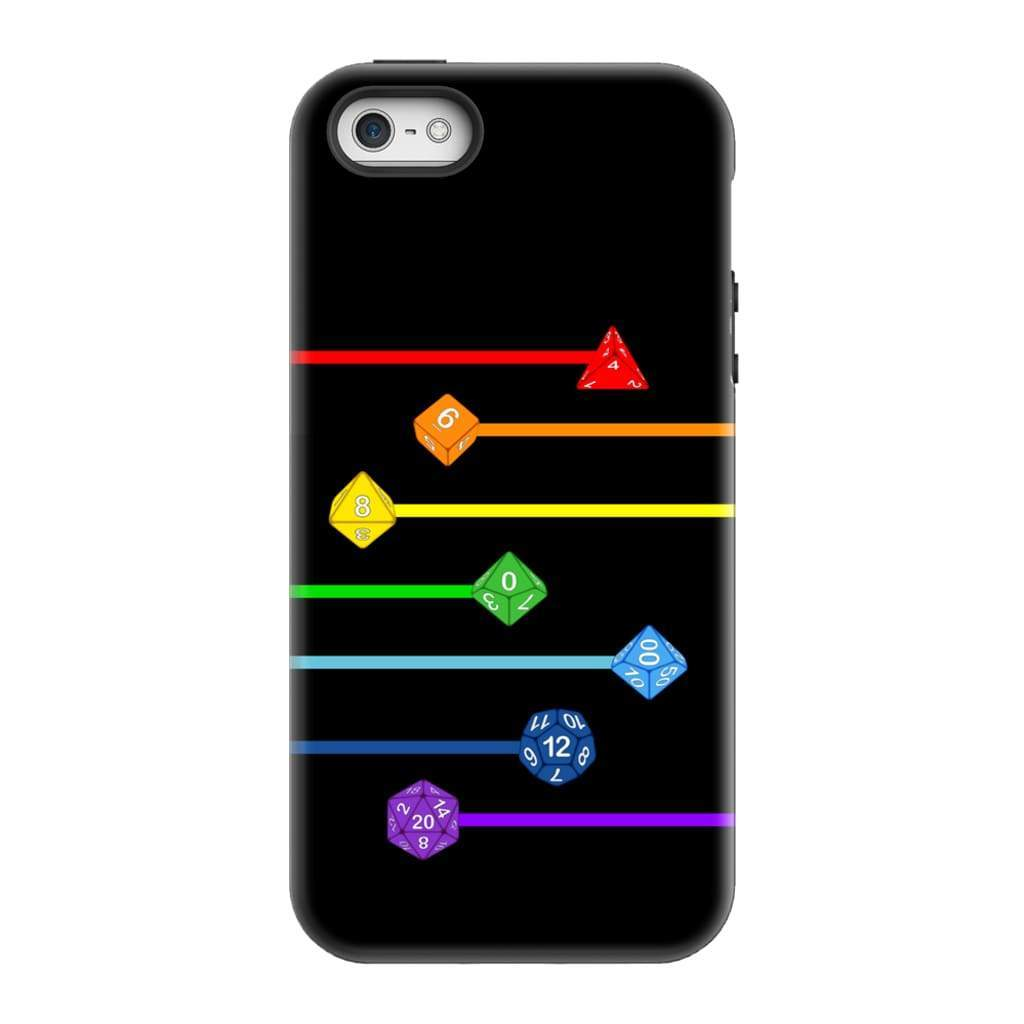 Polyhedral Pride - Rainbow Dice Phone Case : Tough - iPhone 5/5s/SE