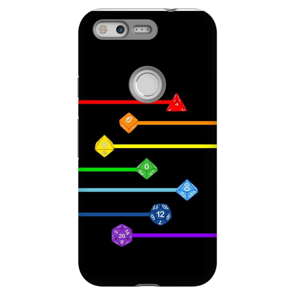 Polyhedral Pride - Rainbow Dice Phone Case : Tough - Google Pixel