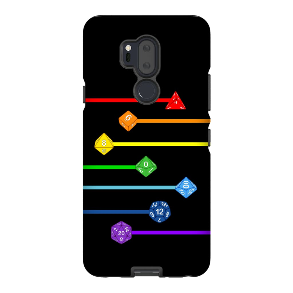 Polyhedral Pride - Rainbow Dice Phone Case : Tough - LG G7
