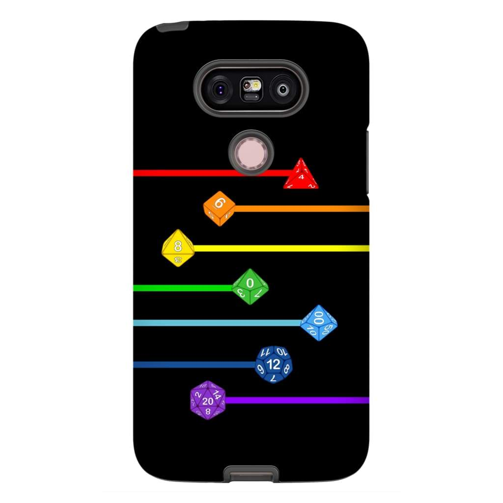 Polyhedral Pride - Rainbow Dice Phone Case : Tough - LG G5