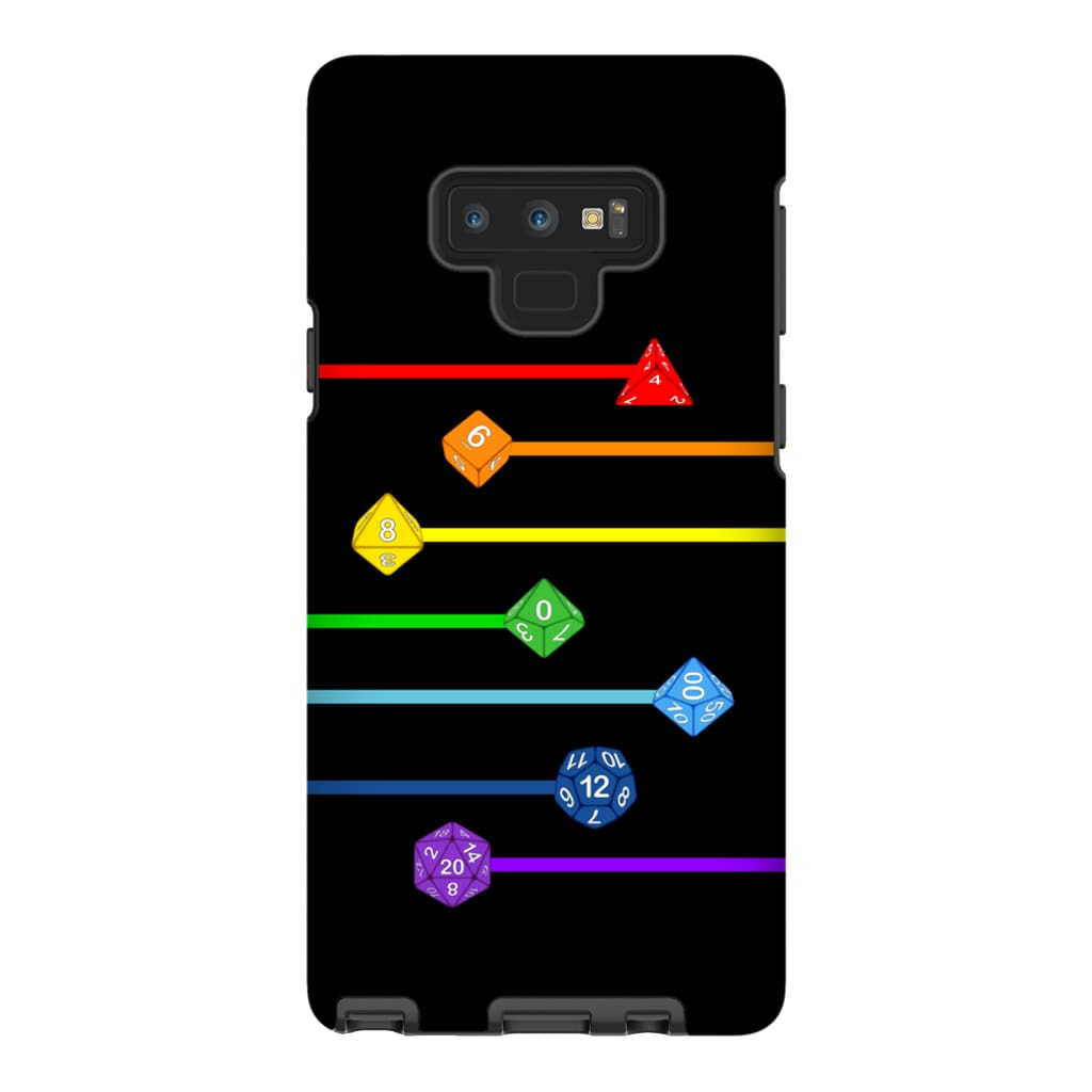 Polyhedral Pride - Rainbow Dice Phone Case : Tough - Samsung Galaxy Note 9