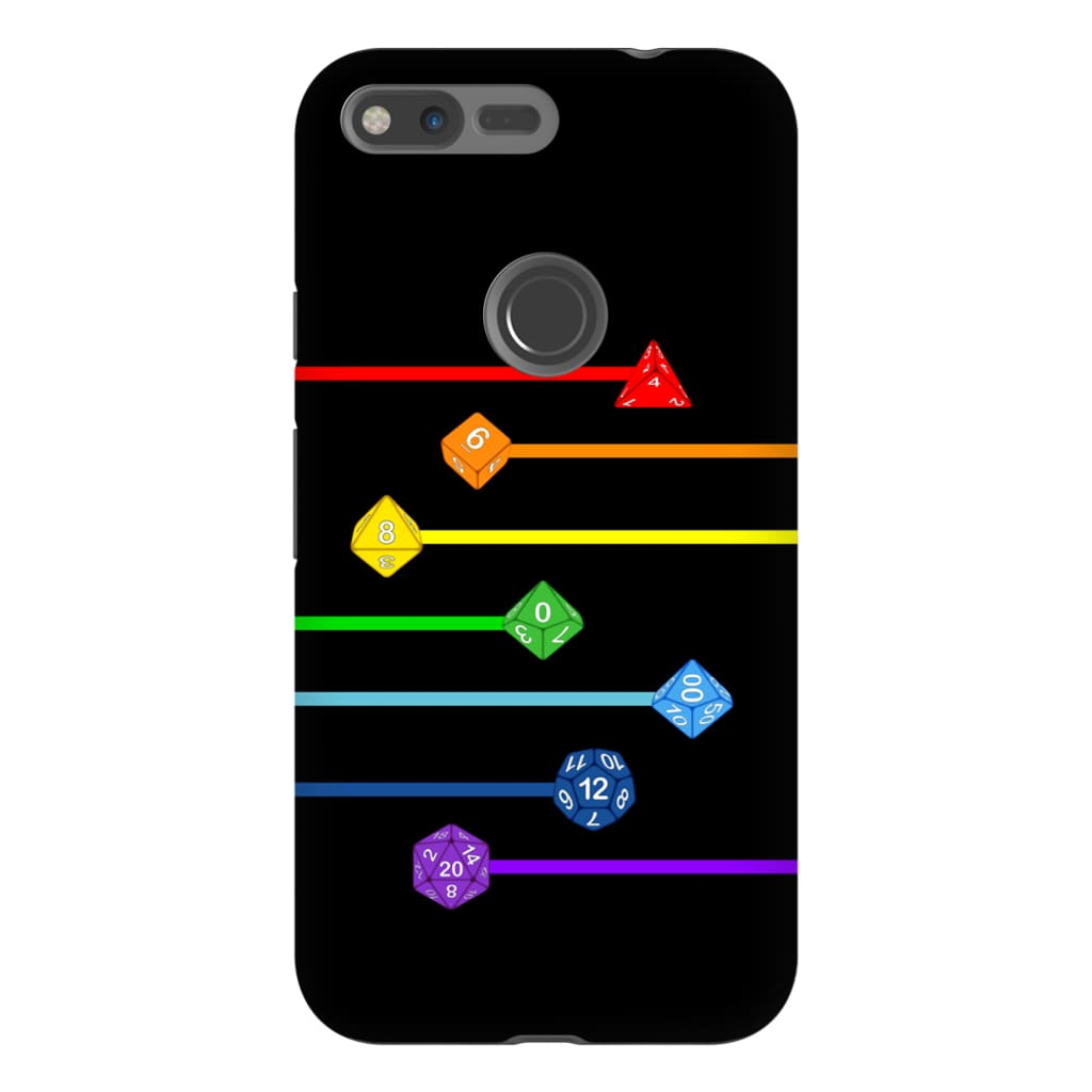 Polyhedral Pride - Rainbow Dice Phone Case : Tough - Google Pixel XL