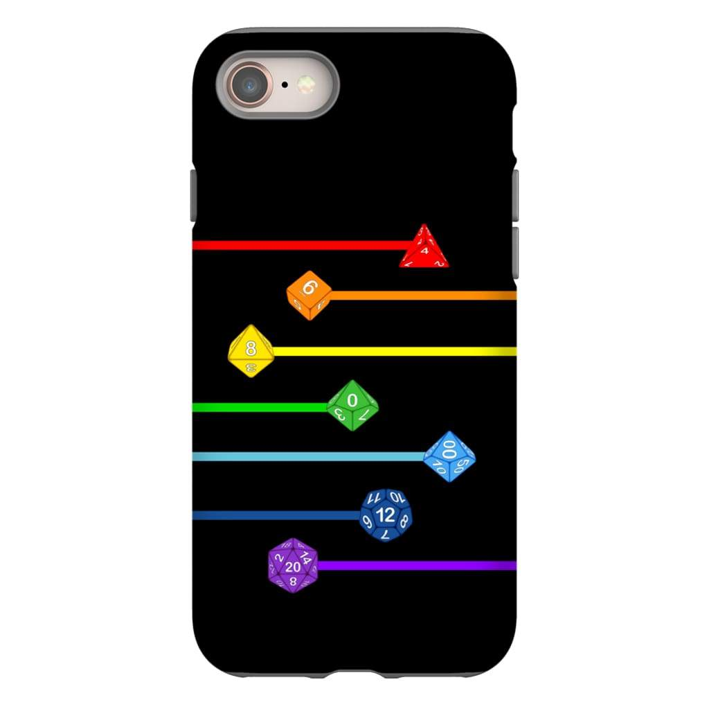 Polyhedral Pride - Rainbow Dice Phone Case : Tough - iPhone 8