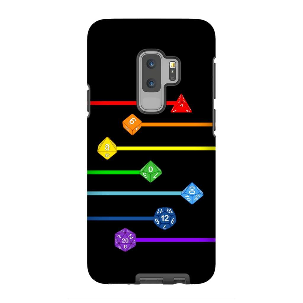 Polyhedral Pride - Rainbow Dice Phone Case : Tough - Samsung Galaxy S9 Plus