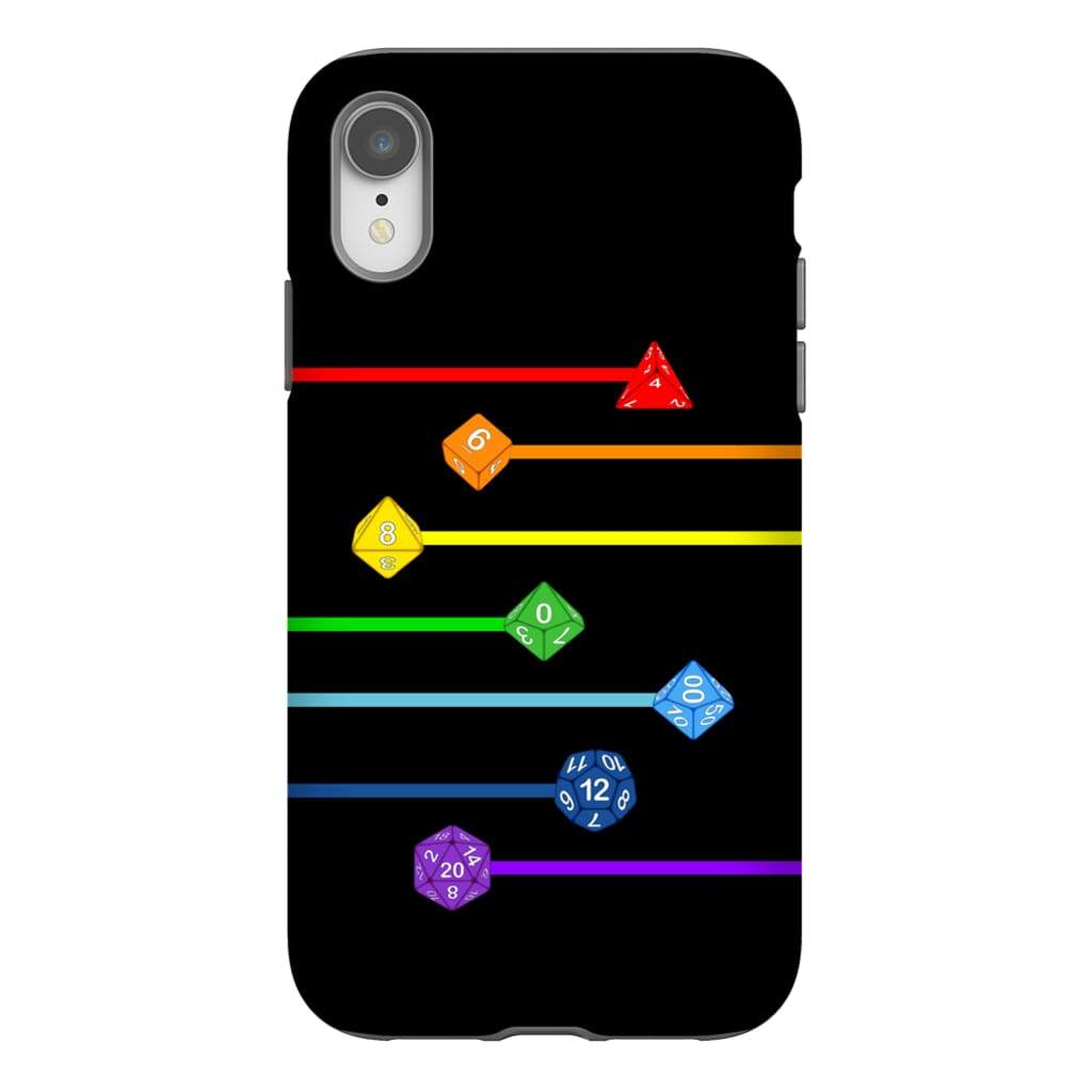 Polyhedral Pride - Rainbow Dice Phone Case : Tough - iPhone XR