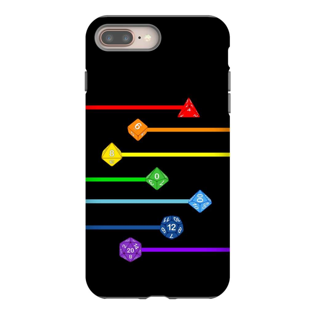 Polyhedral Pride - Rainbow Dice Phone Case : Tough - iPhone 8 Plus