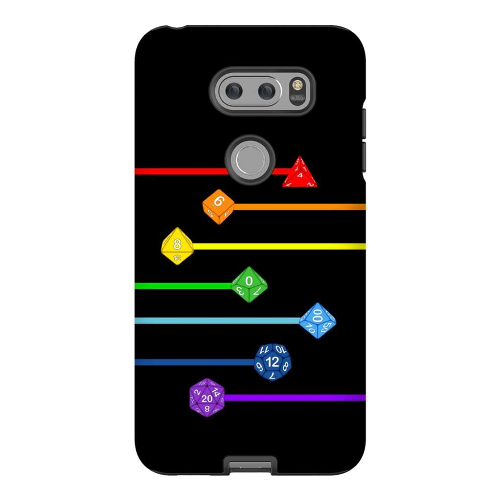 Polyhedral Pride - Rainbow Dice Phone Case : Tough - LG V30