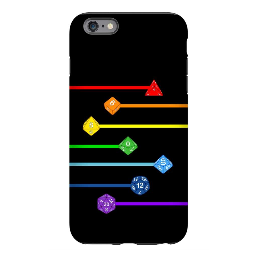 Polyhedral Pride - Rainbow Dice Phone Case : Tough - iPhone 6s Plus
