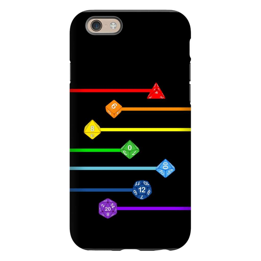 Polyhedral Pride - Rainbow Dice Phone Case : Tough - iPhone 6s