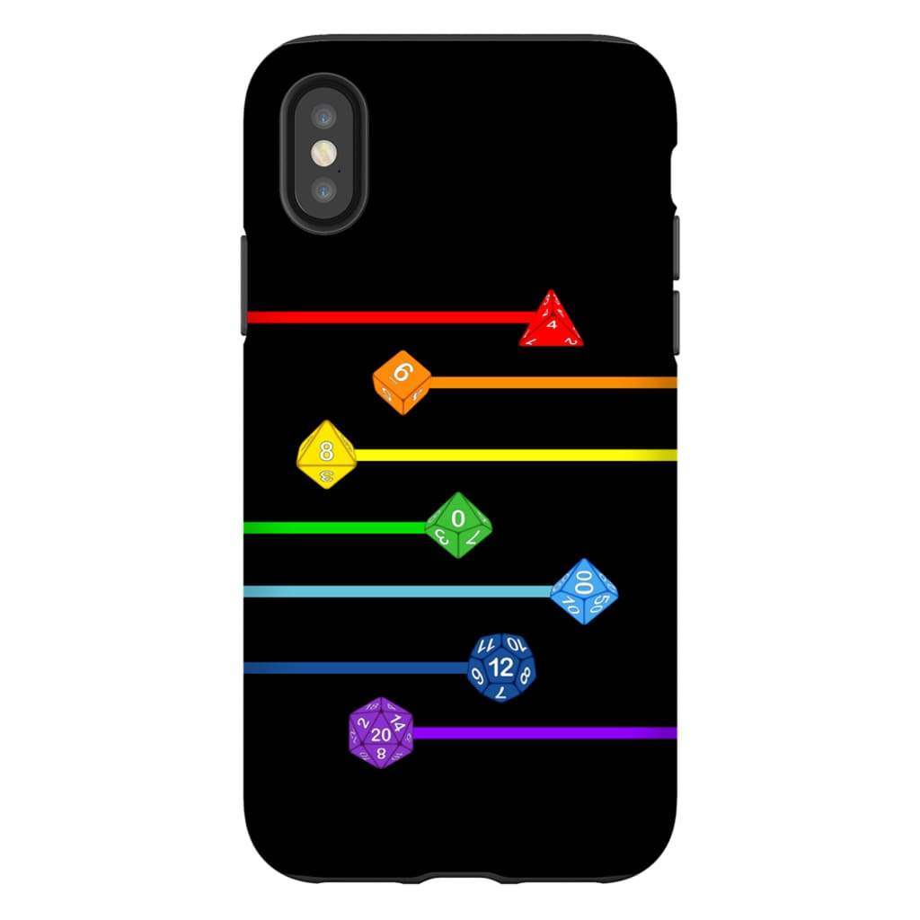 Polyhedral Pride - Rainbow Dice Phone Case : Tough - iPhone XS