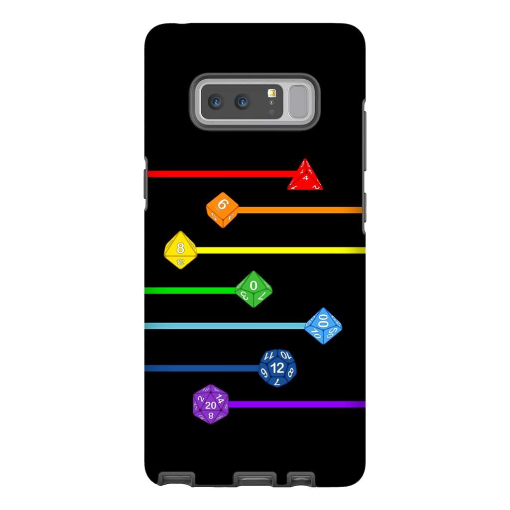 Polyhedral Pride - Rainbow Dice Phone Case : Tough - Samsung Galaxy Note 8