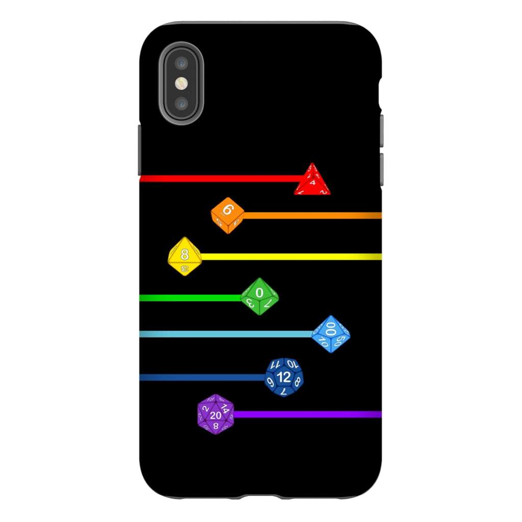 Polyhedral Pride - Rainbow Dice Phone Case : Tough - iPhone XS Max