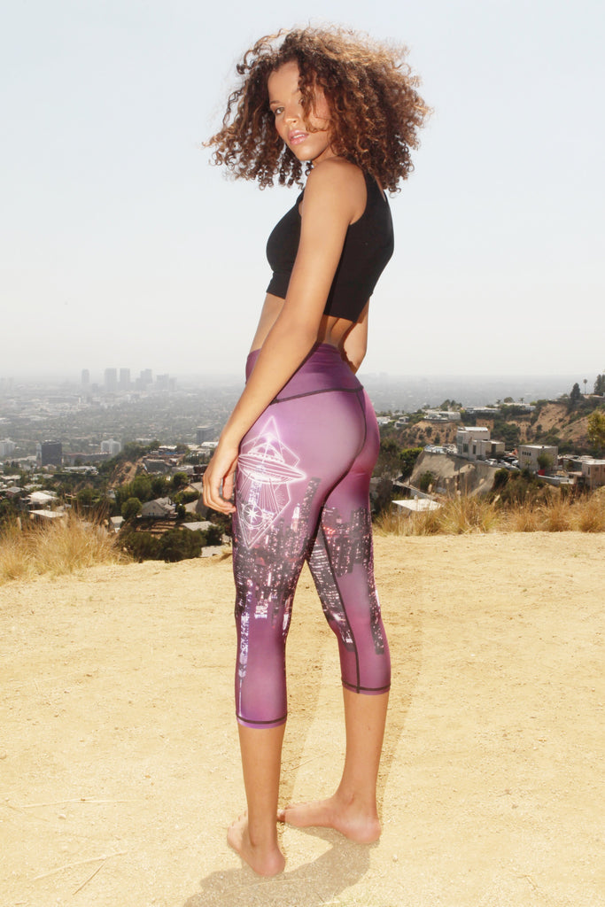 Yoga Leggings UFO Spaceship