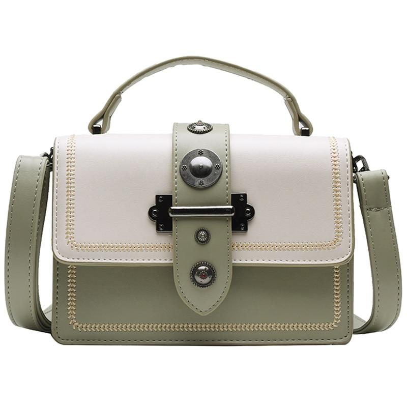 Elegant Rivet Shoulder Messenger Bag