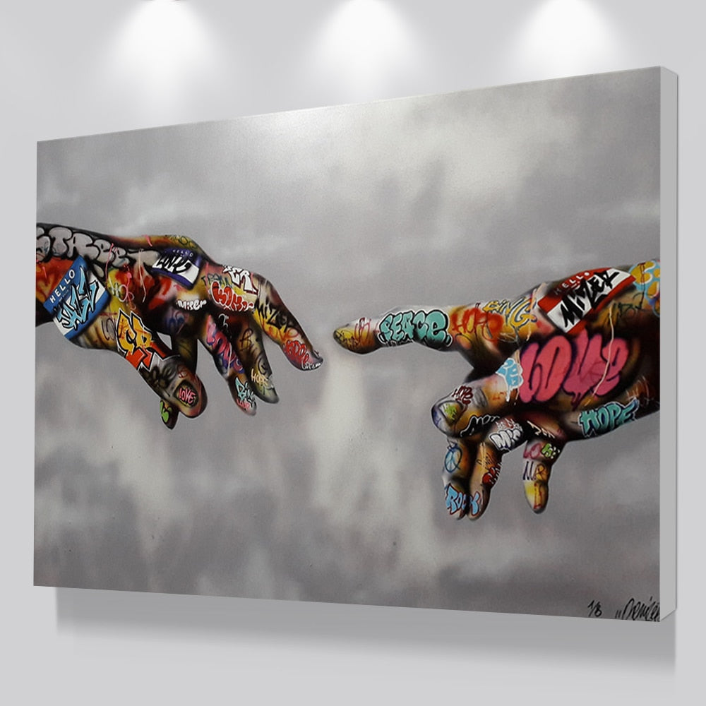 Graffiti Art Poster Print Painting Street Art Urban Art on Canvas Hand Wall Pictures for Living Room  Home Decor