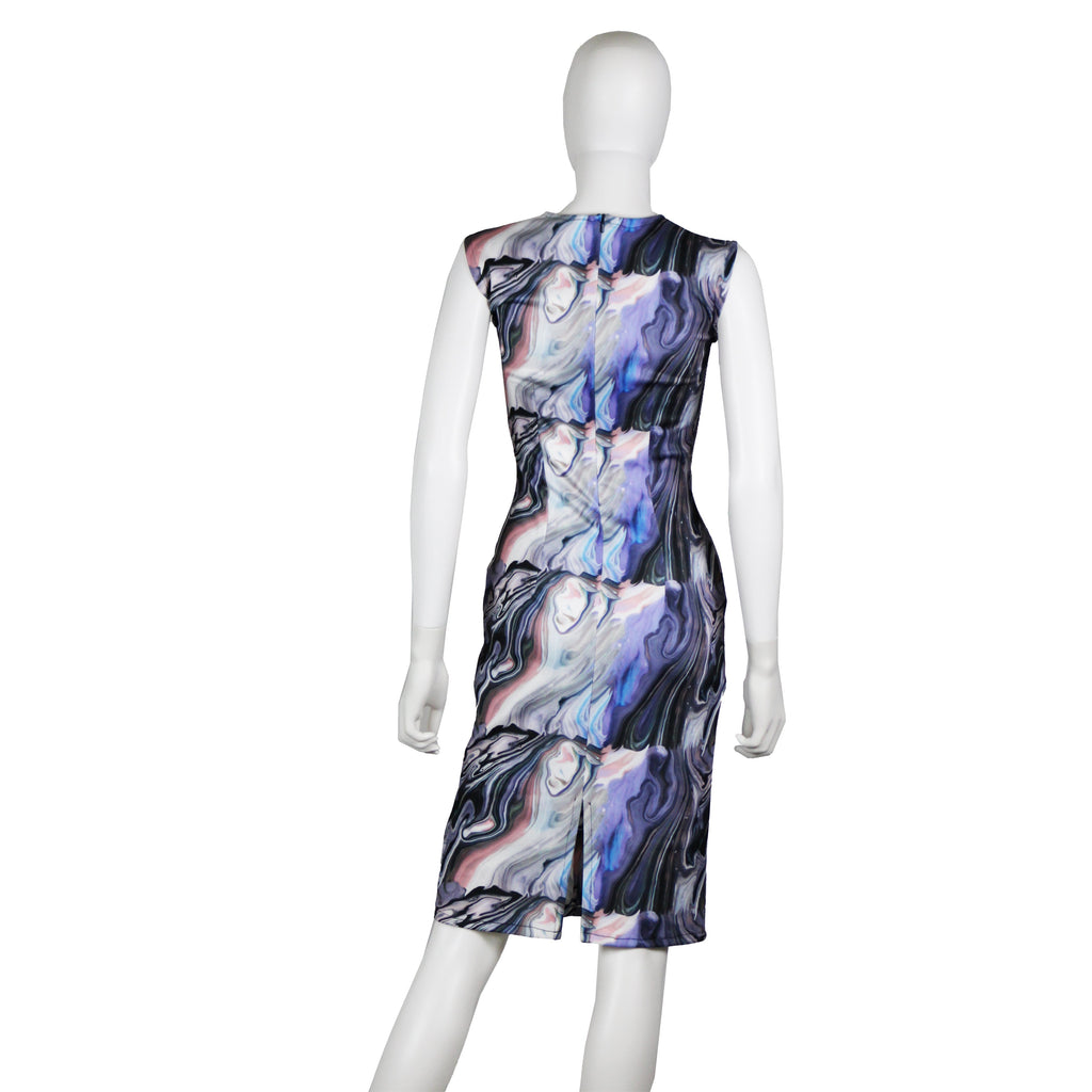 Marble Print Neoprene Dress - SAMPLE