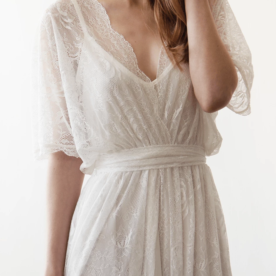 Boho Wedding Dress  #1044
