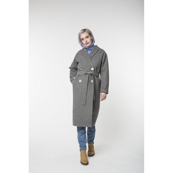 Long Gray Coat (Vegan)