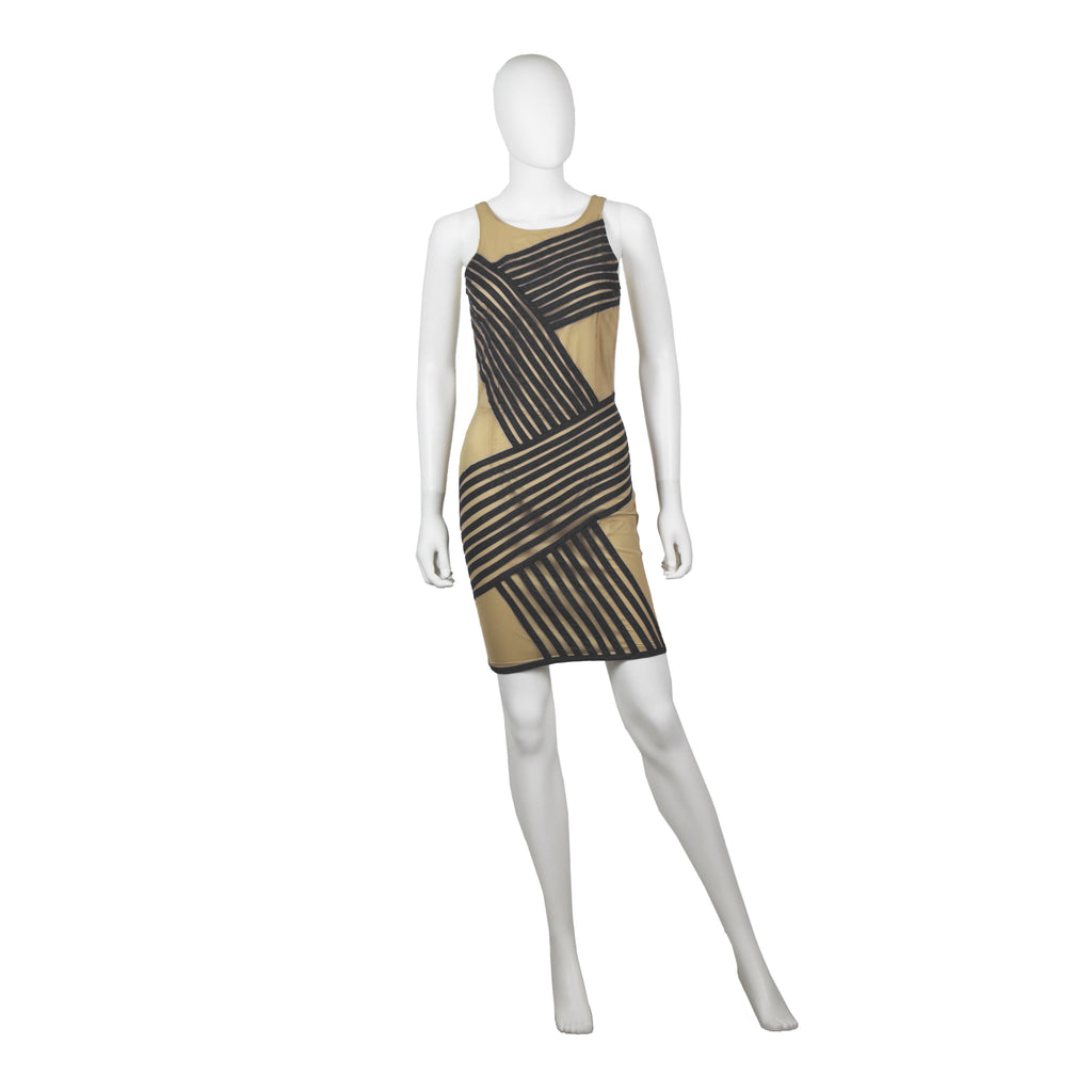 Signature Nude Illusion Short Dress