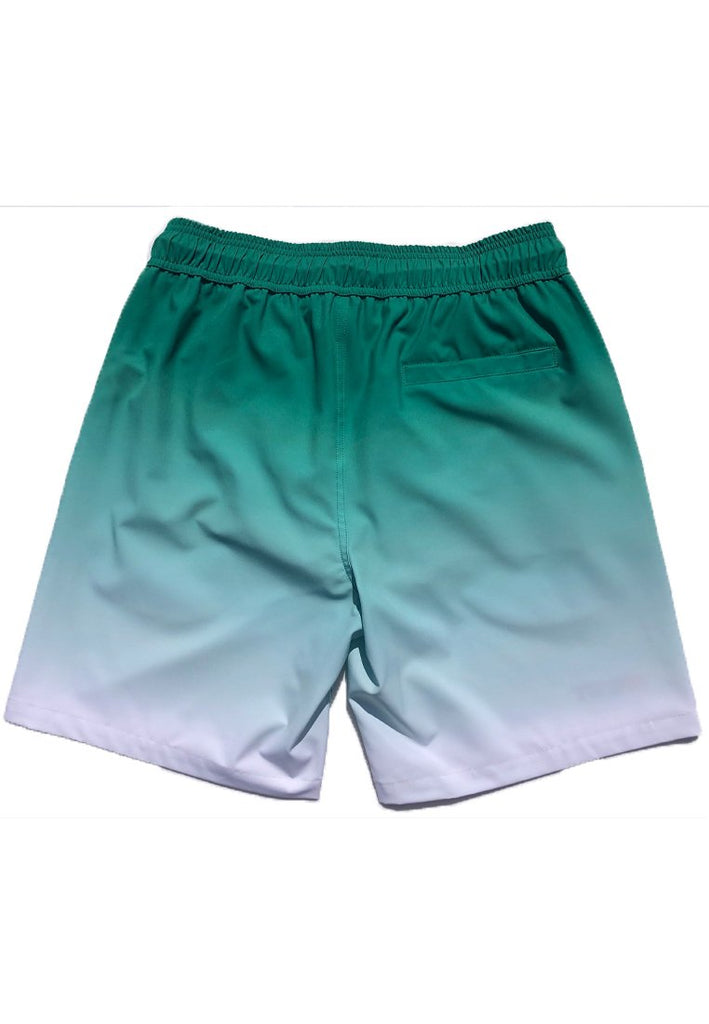 "Eco-Friendly Quick Dry UV Protection Perfect Fit Red Beach Shorts ""Sunrise"" Side and Back Pockets"