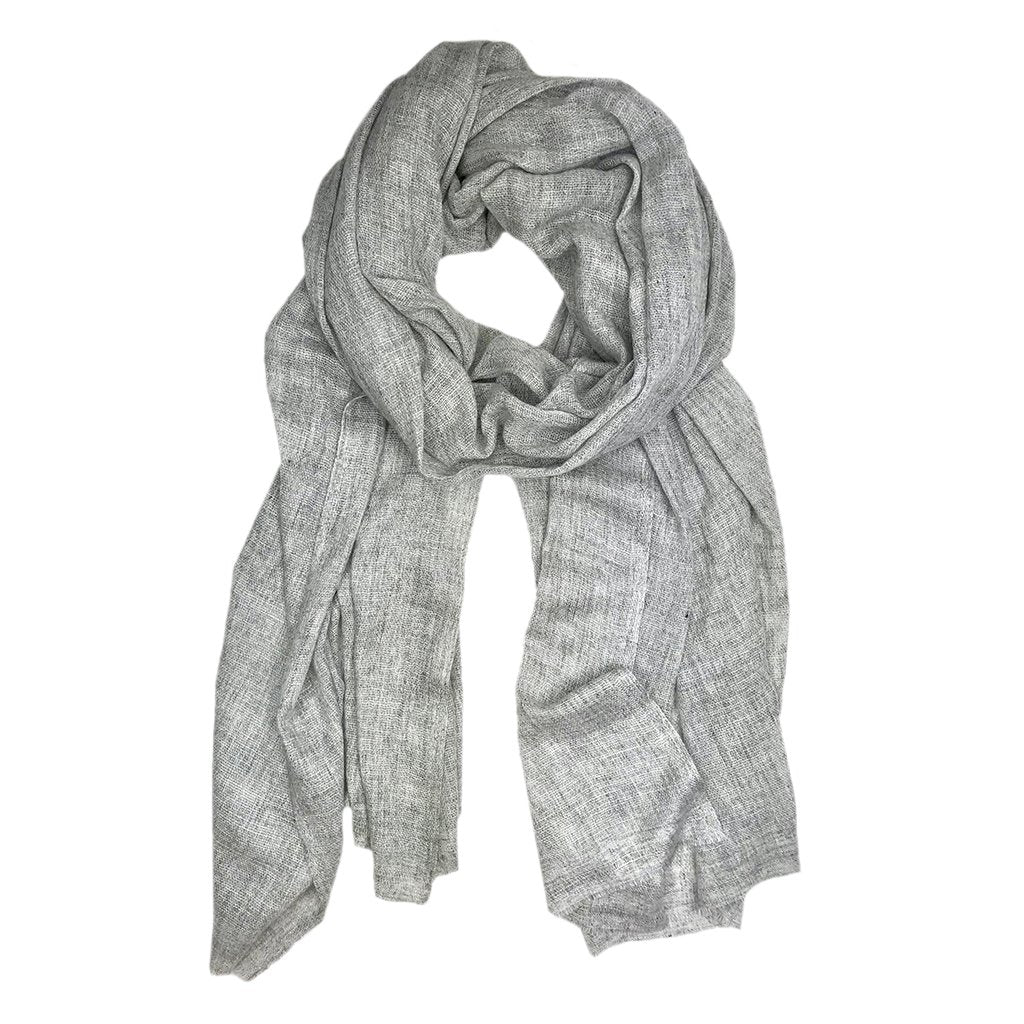Gauze Heathered Gray Cashmere Scarf