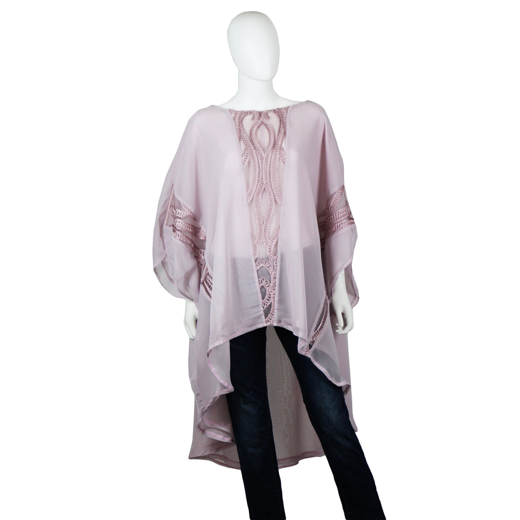 Lilac Corded Caftan Blouse